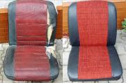 Oprava poškozených sedaček